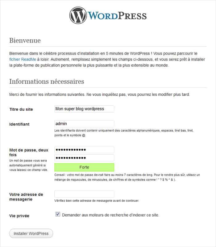 administrateur wordpress