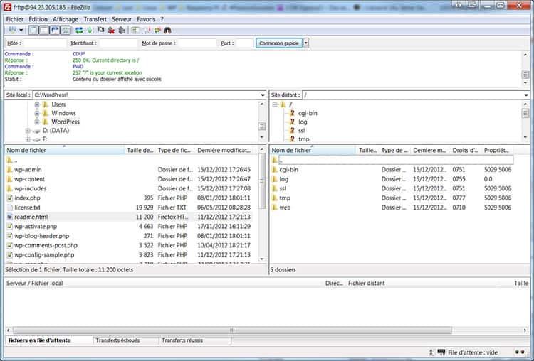 installer-wordpress-filezilla