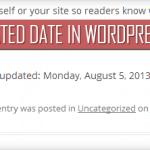 Afficher la date de mise à jour d'un article sous WordPress
