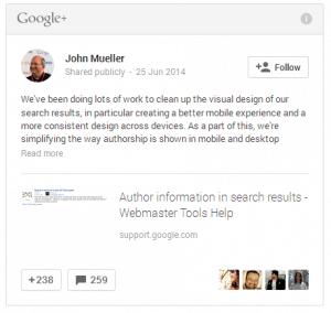 Google a supprimé l'image de l'auteur (Authorship) dans les SERP