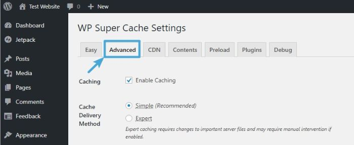configurer-wp-super-cache