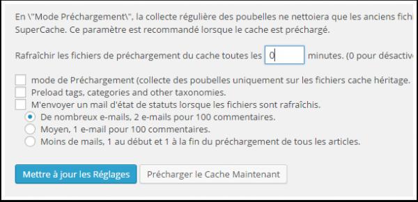 configurer wp super cache