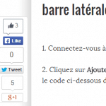 Ajouter une barre verticale flottante de partage à votre blog