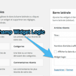 Gérer où afficher vos widgets avec Widget Logic