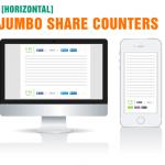 Boutons de partage Jumbo avec compteur pour wordpress sans plugin