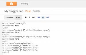 Comment diviser un article en plusieurs pages sur Blogger