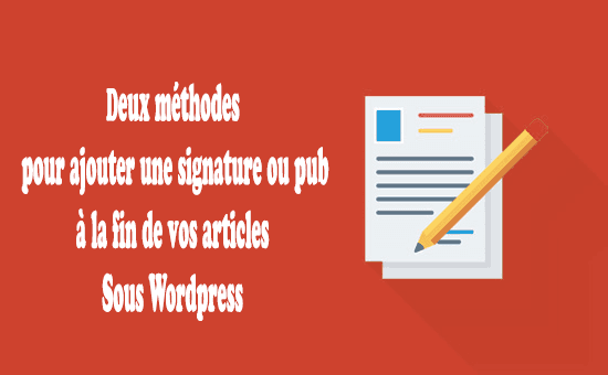 Ajouter signature ou pub à la fin articles
