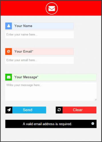 Formulaire de contact r actif responsive pour blogger site - Formulaire de contact ...