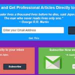 Boite d'abonnement à feedburner sous vos article