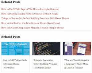 Afficher les articles similaires (related post) en grille pour genesis