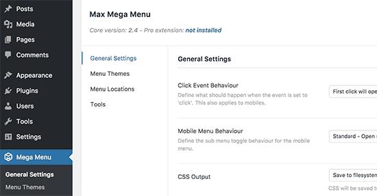 méga menu