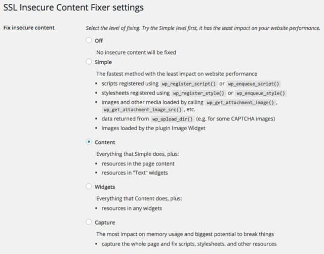 plugin pour corriger le contenu mixte wordpress