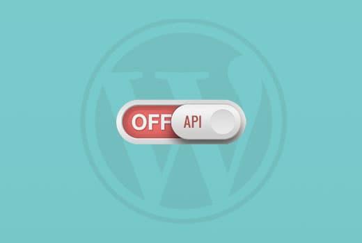désactiver l'API JSON REST