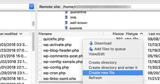 creer fichier robots.txt