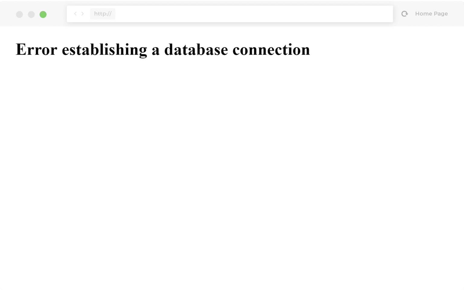 erreur de l'établissement de connexion à la base de données