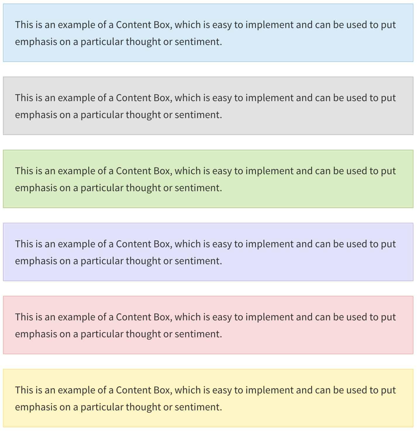 Ajouter des zones de contenu colorées sur votre site