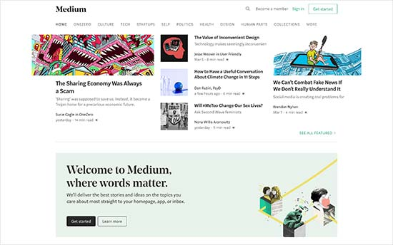 MEDIUM WORDPRESS ALTERNATIVE