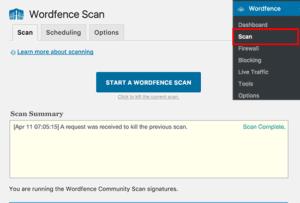 scan wordpress logiciel malveillants