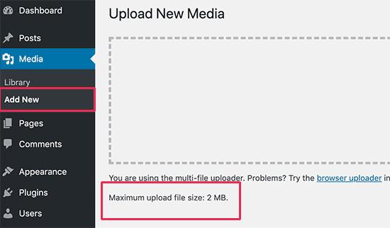 wp-upload-limite