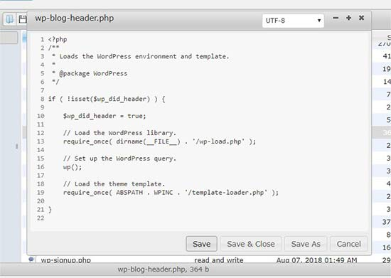 editer les fichiers de file manager
