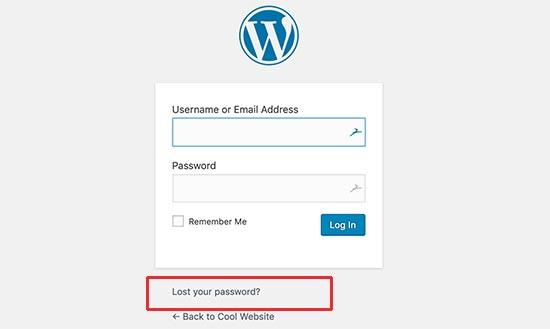 changer mot de passe wp