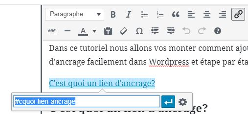 ancrage wordpress