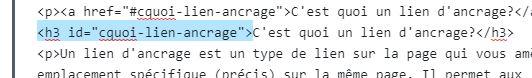 ancrage WordPress