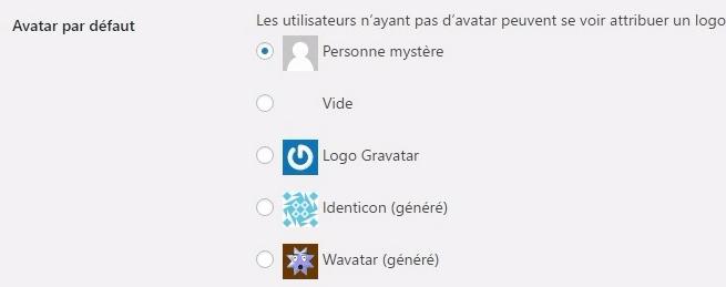 supprimer avatar dans wordpress commentaires