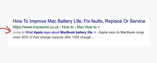 lien ancrage google