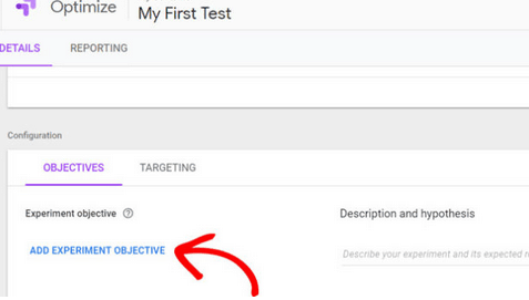 configurer google optimize
