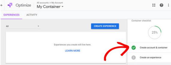 comment ajouter googl optimize