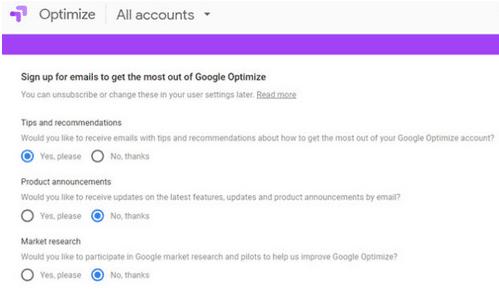 optimize de google
