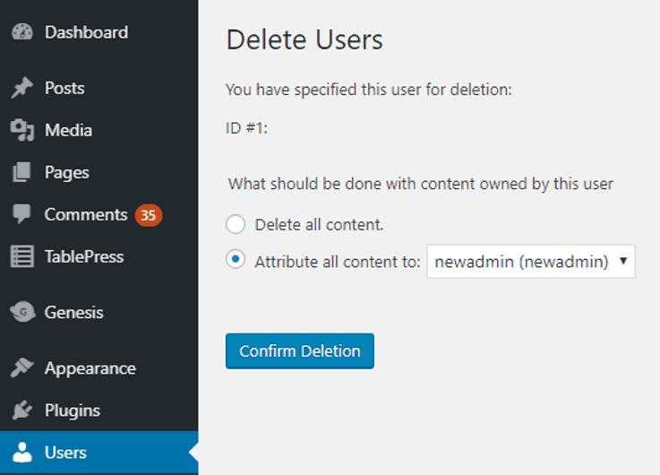 changer admin utilisateur