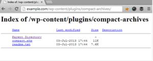 désactiver l'accès aux répertoires Wordpress