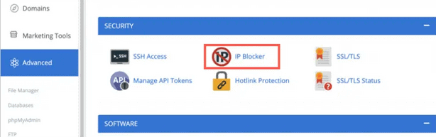 bloquer ip sous bluehost