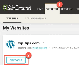 siteground bloquer ip