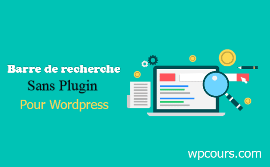 barre de recherche avec effet toogle pour wordpress