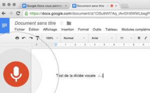 saisie vocale des articles de blog avec Google Docs