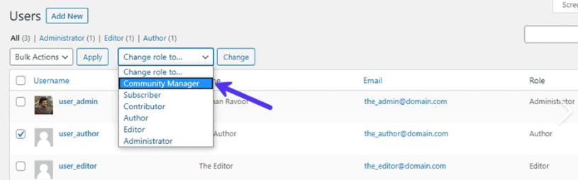 role utilisateur wordpress